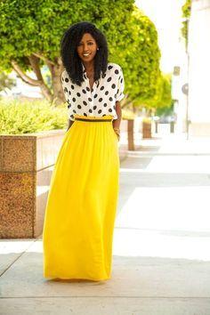 Styling Maxi Skirts - Anything Oye