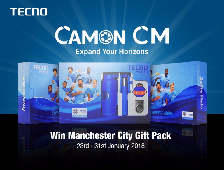 Visit Tecno Mobile's Stands To Experience The Camon Cm And Win Instant Manchester City Gift Pack